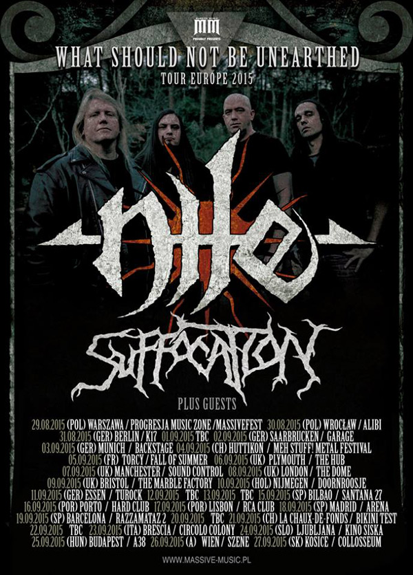 Nile And Suffocation European Tour Announced The Metalist - European tours 2015